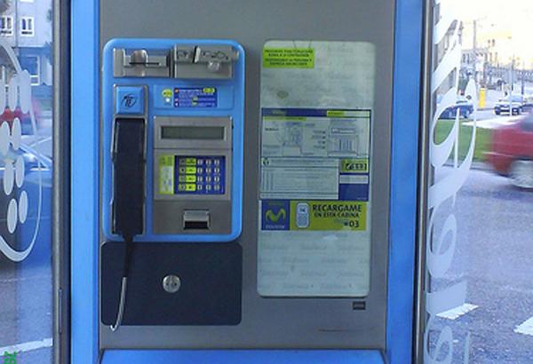 Cabina de teléfono público de Telefónica