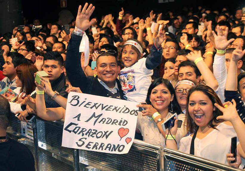 Corazon Serrano en Madrid, público