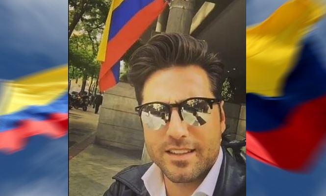 David Bustamante confunde la bandera colombiana con la venezolana y revoluciona Twitter