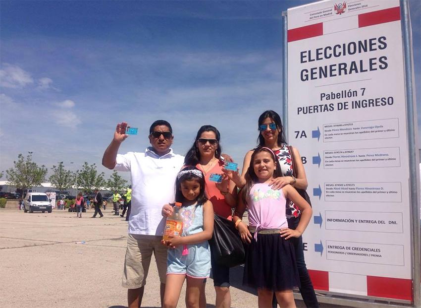 elecciones de Perú en Madrid 2016