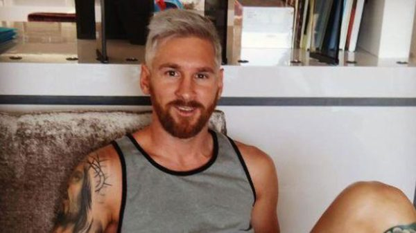 Lionel Messi ahora es rubio