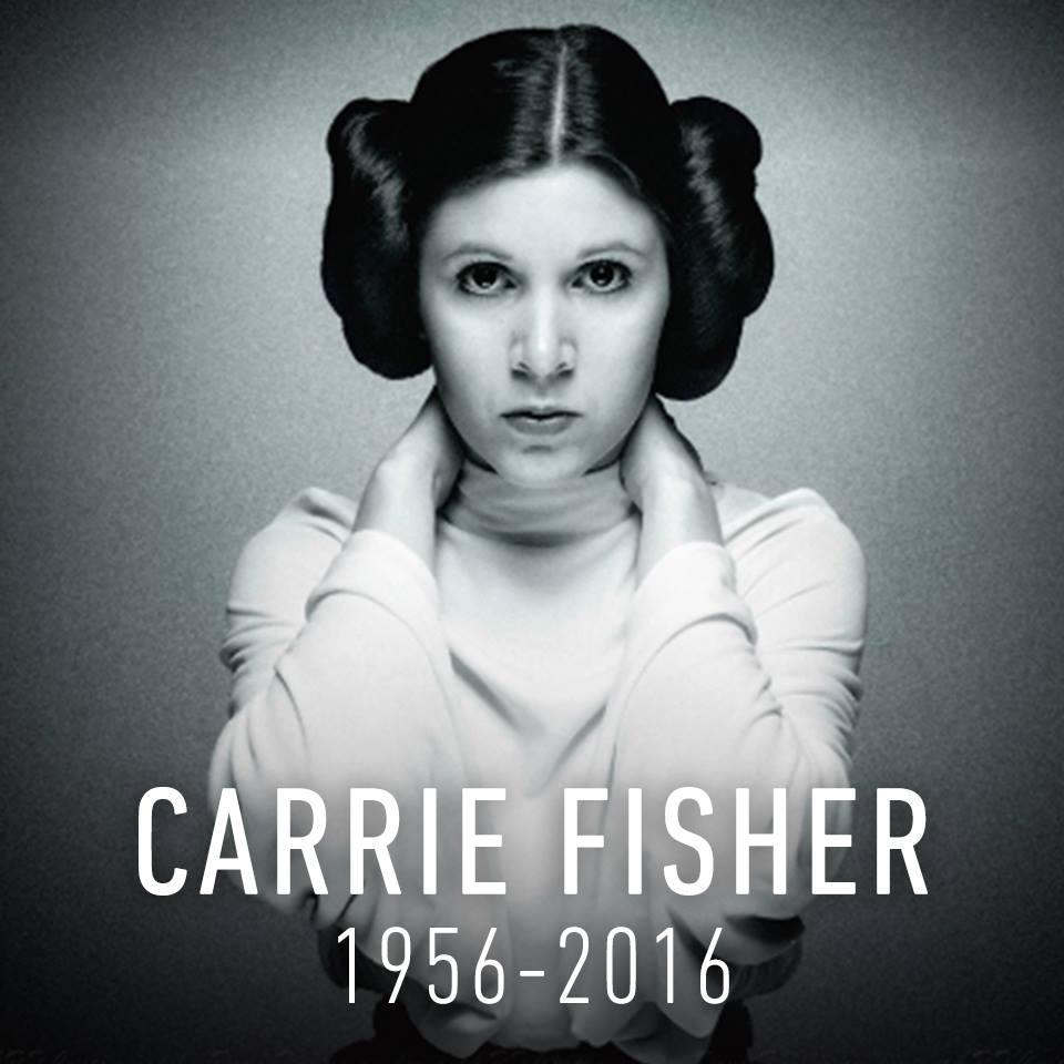 Muerió Carrie Fisher, la 'princesa Leia' de 'Star Wars'