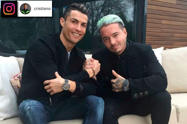 J Balvin presentó a su parcero Cristiano Ronaldo