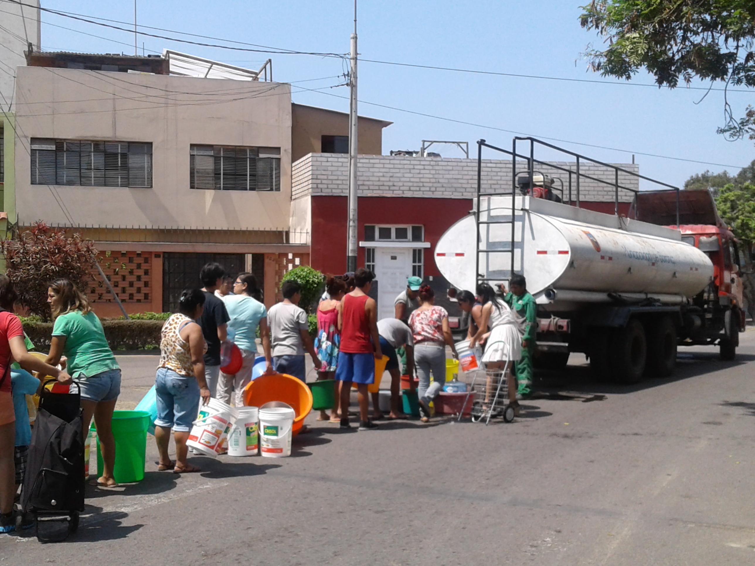 Lima sin agua