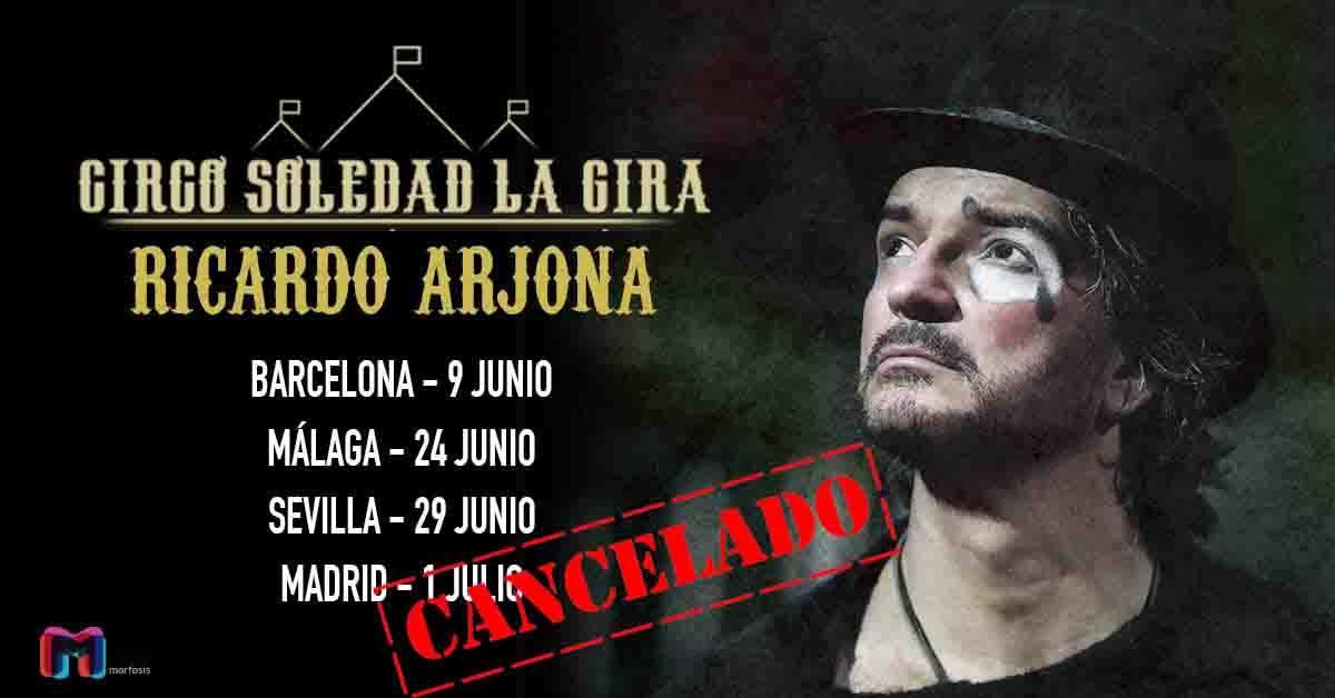Savory devolverá el dinero de las entradas de la suspendida gira de Ricardo Arjona