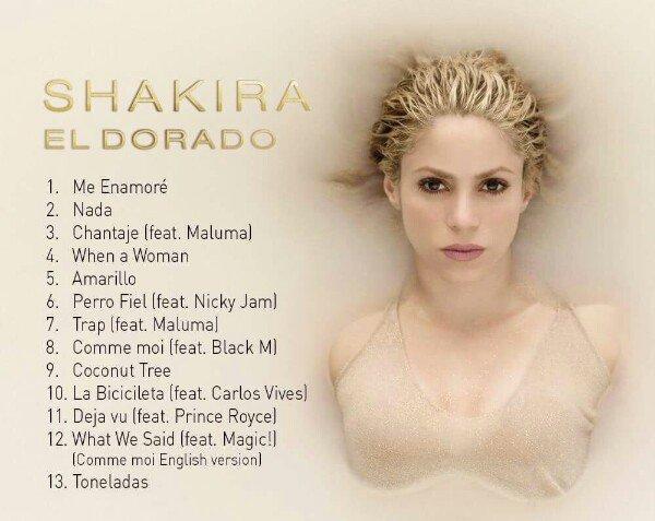 """""""El Dorado"""" es el título del nuevo álbum de Shakira que saldrá al mercado el 26 de mayo"""