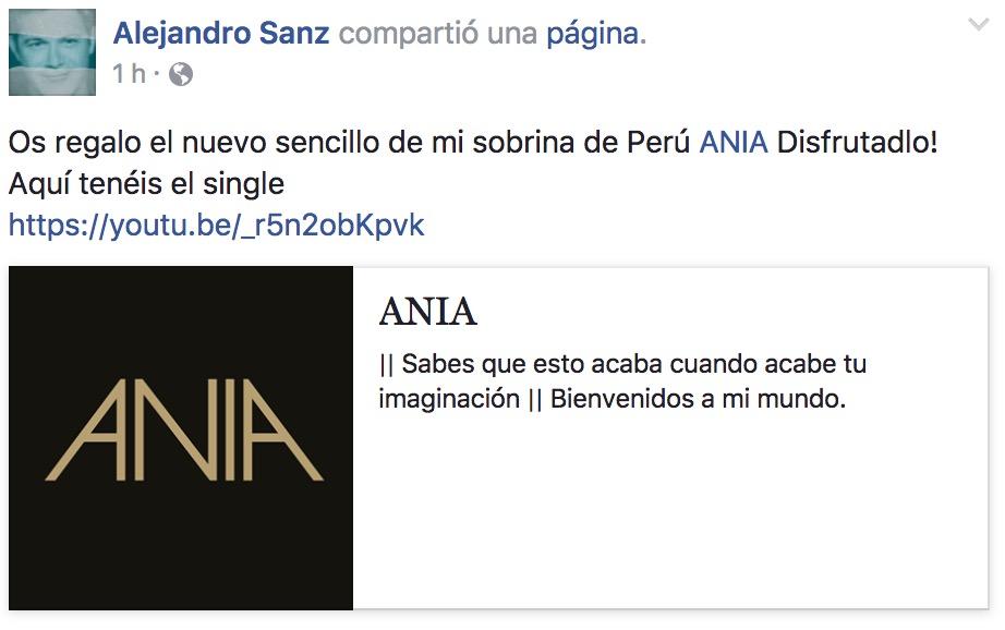 Ania es la peruana que apadrina Alejandro Sanz y que comparan con Rihanna