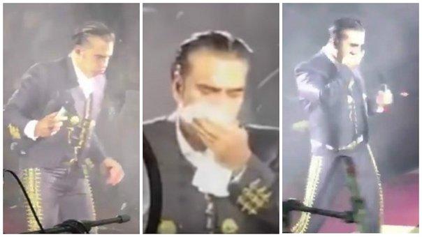 Alejandro Fernández por tremenda borrachera se vomitó a su mariachi