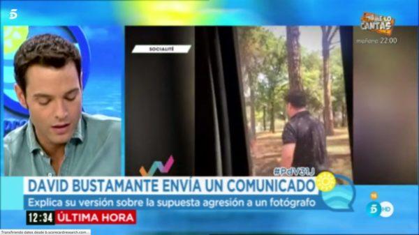David Bustamante pierde los papeles y agrede a un periodista
