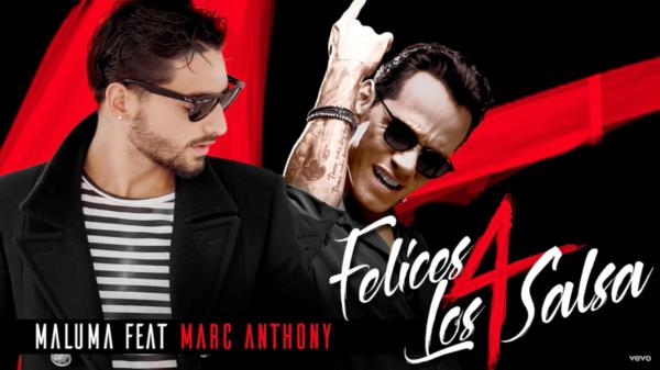 Maluma y Marc Anthony estrenaron 'Felices los cuatro' en versión salsa