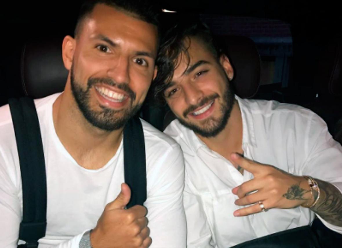 'Kun' Agüero sufrió un accidente de tránsito cuando regresaba del concierto de Maluma