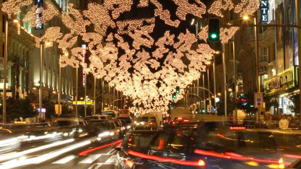 Desde hoy cortes de tráfico en la Gran Vía de Madrid por la Navidad