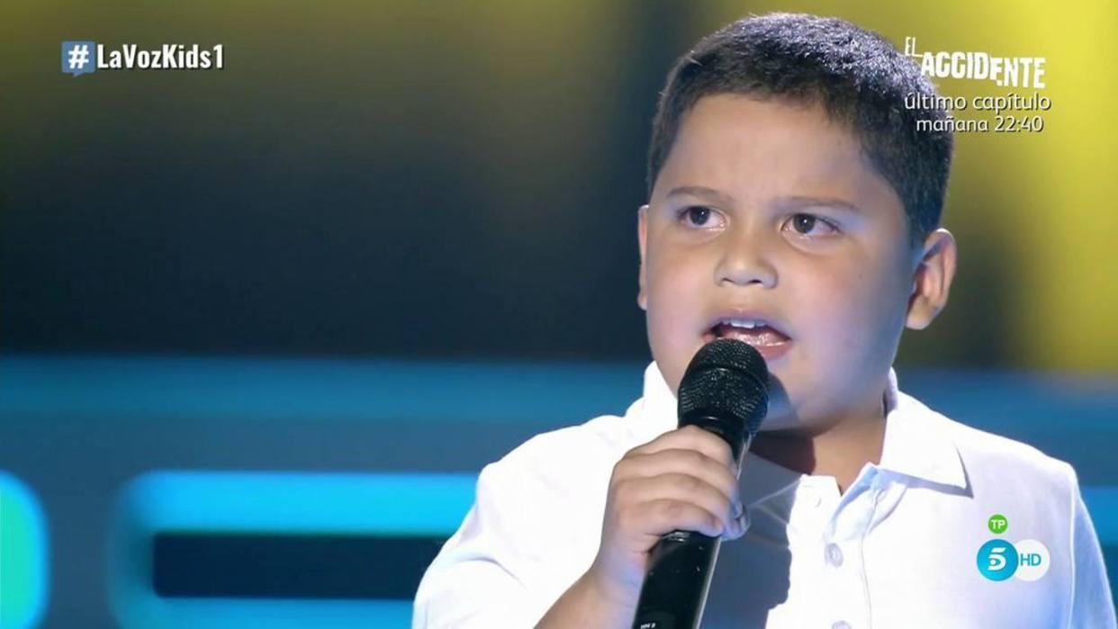 Steven es el niño colombiano que puso en pie al jurado de 'La Voz Kids' España