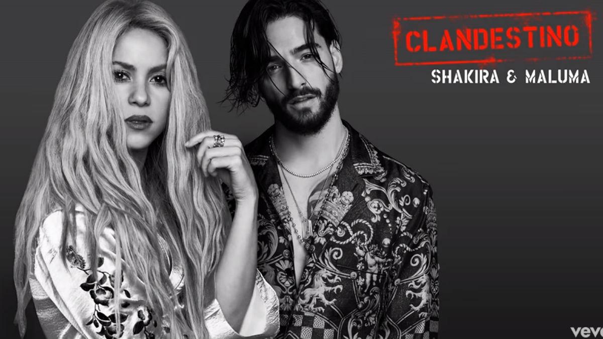 """""""Clandestino"""" es lo nuevo de Shakira junto a Maluma"""