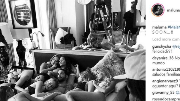 Maluma y su harén de mujeres que escandaliza las redes sociales