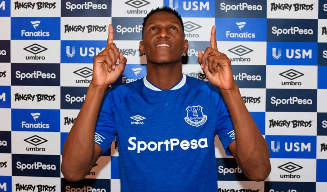 El colombiano Yerri Mina es nuevo jugador del Everton