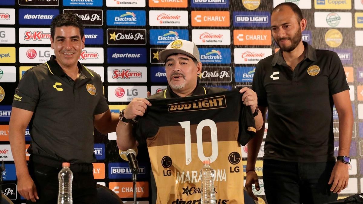 Maradona va a dirigir un equipo en la tierra del narco en México
