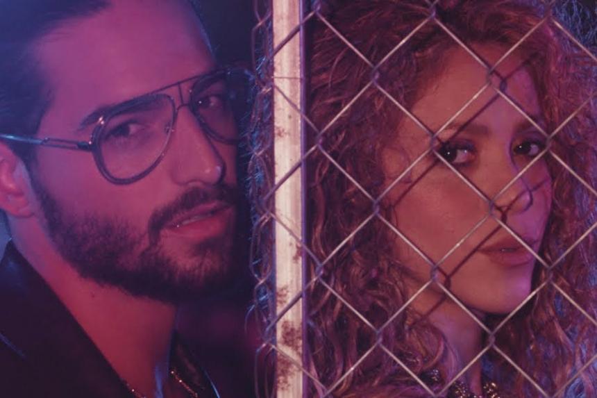 Shakira y Maluma dominan Billboard con 'Clandestino'