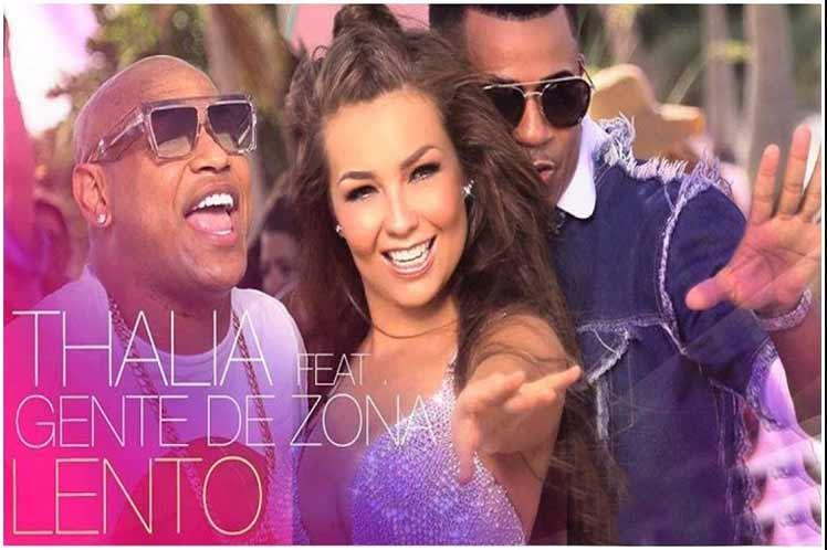 """Thalía estrena su nuevo sencillo y video """"Lento"""" junto a Gente de Zona"""