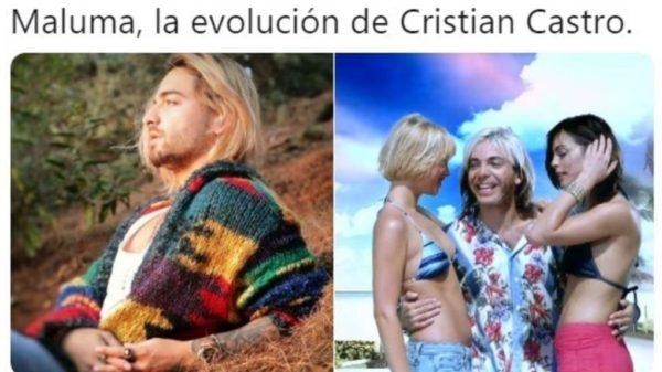 Maluma provoca una avalancha de bromas por su nuevo look a lo Cristian Castro