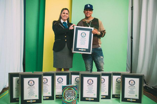 Daddy Yankee recibe 10 récords Guinnes