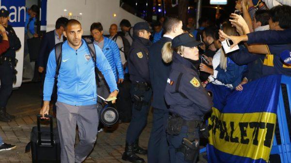 Boca Juniors fue aclamado en Madrid por su hinchada