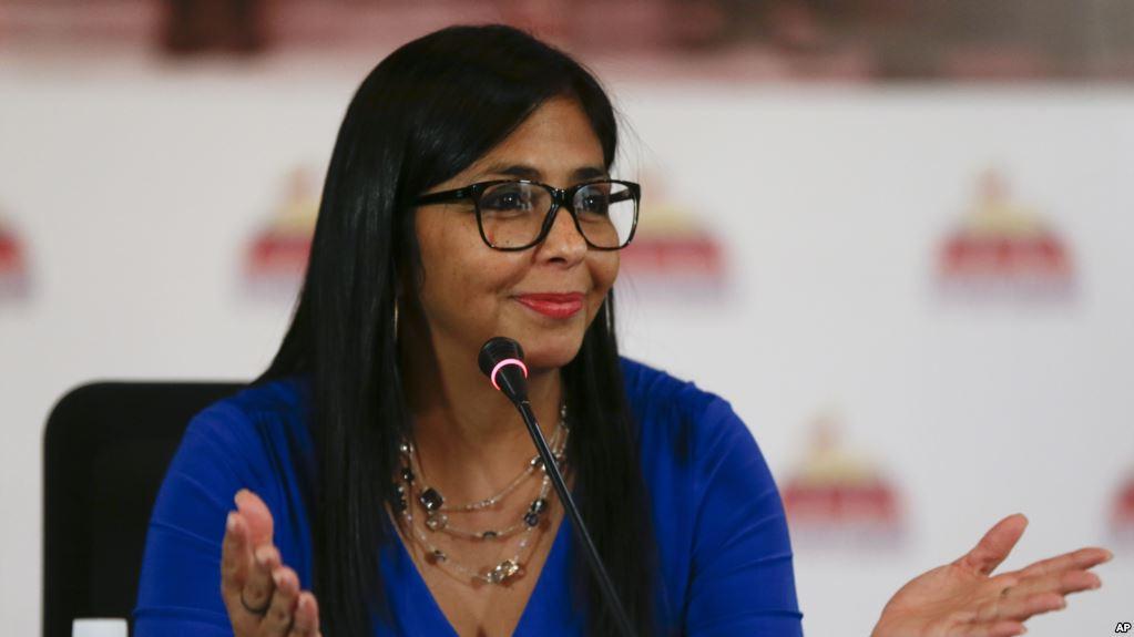 """""""Ayuda humanitaria es un arma biológica"""": vicepresidenta de Venezuela"""