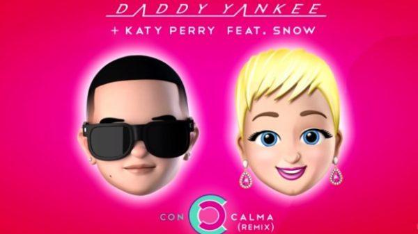 """Katy Perry se une a Daddy Yankee en la nueva versión del éxito """"Con Calma"""" ft. Snow"""